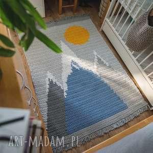 dywan wierchy małego zdobywcy góry, chodnik, szydełko dekoracje sznurek