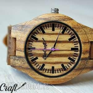 Drewniany zegarek TECTONA ZEBRA WOOD women, zegarek, damski, drewniany, kobiecy