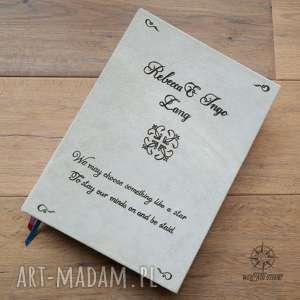 wielki ślubny album na zdjęcia w skórzanej okładce, całkowiecie