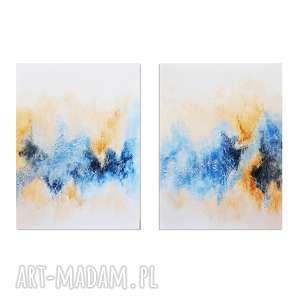 pastello, abstrakcja, nowoczesny obraz ręcznie malowany, obraz, abstrakcja
