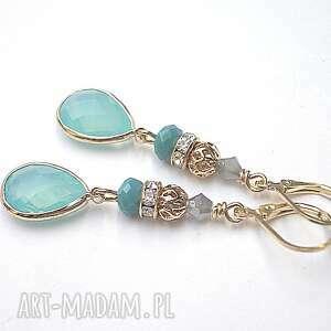 island paradise 29-03-17 kolczyki, szkło, kryształki, metal kolczyki biżuteria