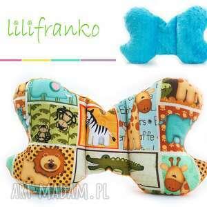 Poduszka Podróżna SAFARI turkus, poduszka, podróżna, motylek, niemowlęca