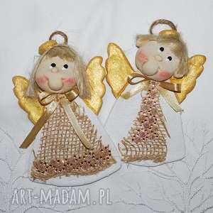 pomysł na prezent Ela i Stasiu ... ANIOŁY Z MASY SOLNEJ, anioły, dekoracja,