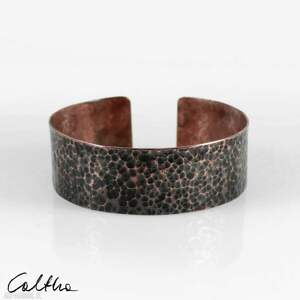 handmade lawa - miedziana bransoleta 210605 -04