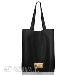 torba ze złotą metką, skórzany, worek, złoto, metka, torba, shopper na ramię