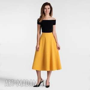 spódnice spódnica star total midi miodowy, spódnica, miodowa