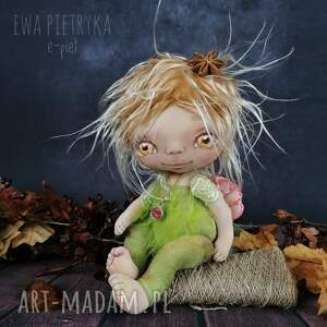 dekoracje elf światełko - lalka kolekcjonerska figurka tekstylna ręcznie szyta