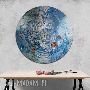 Krajobraz księżycowy 14 alexandra13 okrągły obraz, obraz niebo