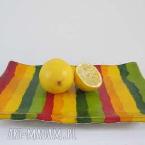 wiosenny dekoracyjny talerz, ceramiczny, patera, ceramiczna, kolorowa, artystyczna