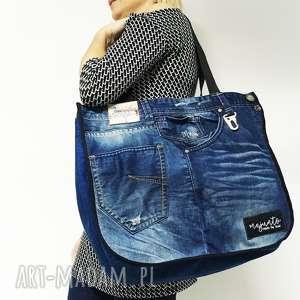 Duża torba Upcykling JEANS 10 DESIGUAL, upcykling, jeans, desigual, duża-torba