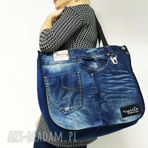 duża torba upcykling jeans 10 desigual, upcykling, jeans