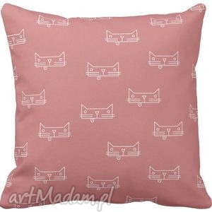 ręcznie wykonane pokoik dziecka poszewka na poduszkę dziecięca kotki 3001