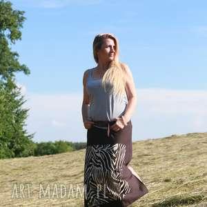 Spódnico-spodnie, spódnico-spodnie, spódnica-maxi, boho-spodnie, brazowe-spodnie
