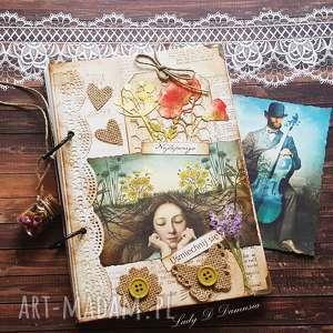 Pamiętnik sekretnik best greetings scrapbooking notesy damusia