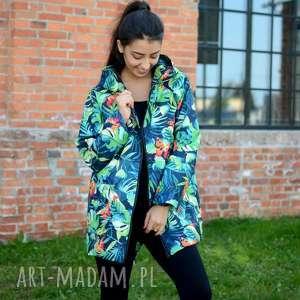 płaszcz przeciwdeszczowy, wodoodporny, kolorowy damski, modny