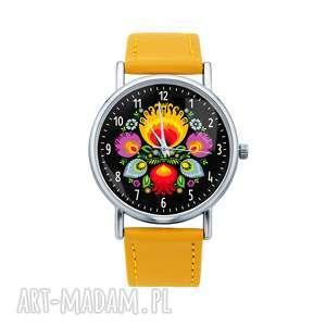 Prezent Zegarek z grafiką ŁOWICKIE KWIATY, folk, folklor, etniczne, kwiat, łowicz