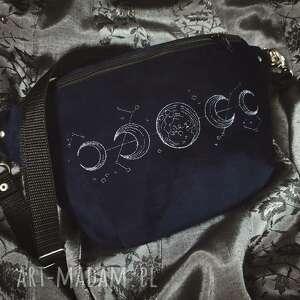 nerki nerka xxl fazy księżyca, nerka, granatowa, aksamitna, księżyc