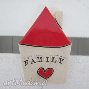 ceramika ana magnes domek zawieszka, ceramiczny, domek, family, magnes, upominek