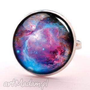 nebula - pierścionek regulowany - różowe pierścionki