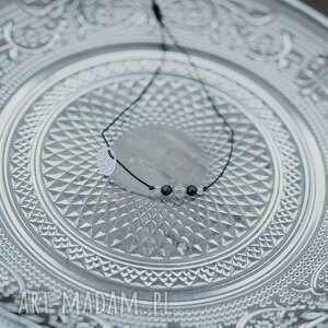 hand-made bransoletka sznurkowa liolit turmalin selenit