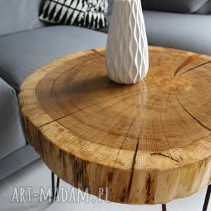 stolik kawowy plaster drewna dębu, stolik, loft, kawowy, design, meble