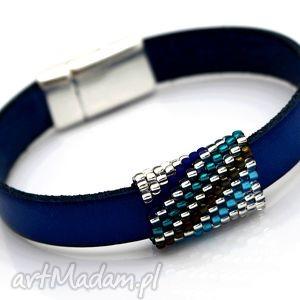 bransoletka skóra magnetoos bead ring, skóra, magnetyczne, przekładka, plecionka