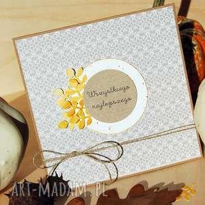 jesienna kartka na różne okazje - jesień, jesienna, urodzinowa, liście