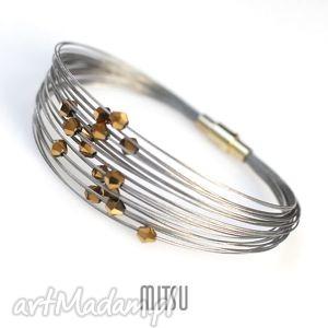 Gold fever mitsu złote, srebrne, kryształki, wieczorowe, linki,