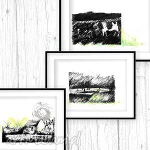 siedlisko tryptyk poetycki - poezja, tryptyk, ilustracje, dekoracje, wieś
