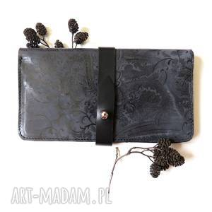 Prezent Portmonetka z paskiem skórzana, pormonetka, skóra, portfel