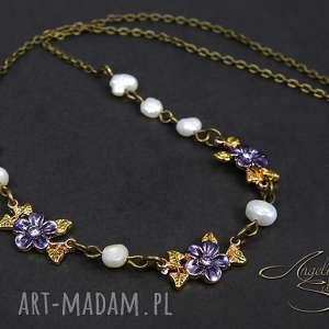 angelo naszyjnik kwiaty perŁa naturalna - naszyjnik, łańcuszek, perły