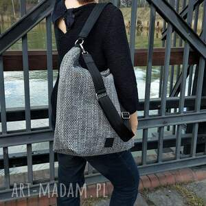 handmade na ramię duża, poręczna torba