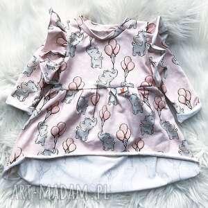 sukienka dla dziewczynki słoniki, dziecka