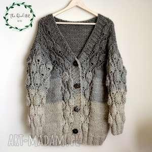 the wool art big sweter zamówienie p małgosia, sweter, kardigan, wełniany