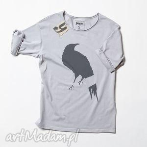 GREY CROW tshirt unisex, koszulka, kruk, wrona, ptak, oversize