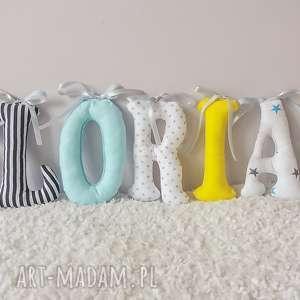 pokoik dziecka mięciutka literka z bawełny, maskotka, literka, literki, imię