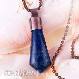 Prezent c460 Grot z lapis lazuli wisiorek, naszyjnikwisiorek, zlapislazuli