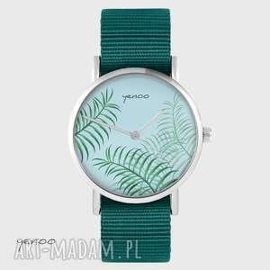 zegarki zegarek yenoo - jungle leaves morski, nato, zegarek, pasek, nato