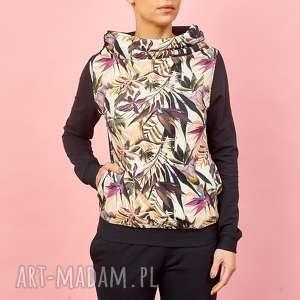 bluza z kominem, bluza-w-kwiaty, jesienne-kwiaty, bluza-na-jesień, damska-bluza
