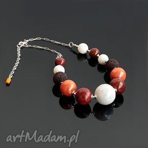 handmade naszyjniki koral z ceramiką
