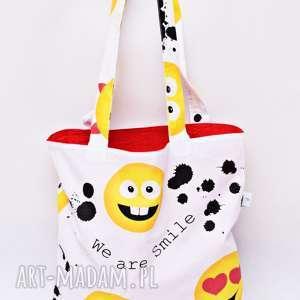 torba na zakupy shopperka ekologiczna zakupowa ramię bawełniana uśmiech