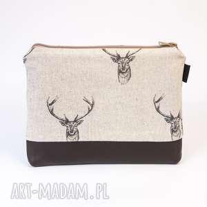 hand-made kosmetyczki beżowa kosmetyczka w jelenie