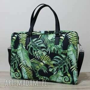 torba na laptop - tropikalne liście monstera, elegancka, nowoczesna, prezent