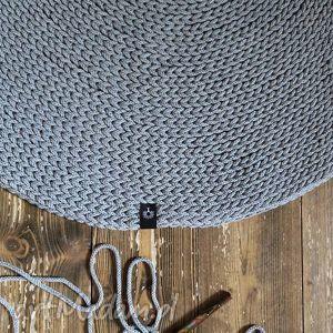 dywany okrągły dywan z bawełnianego sznurka 100 cm, chodnik, rękodzieło