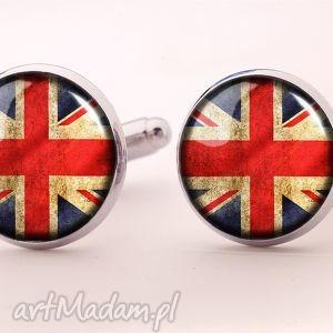 flaga uk - spinki do mankietów - spinki, mankietów, flaga, brytyjska, uk, prezent