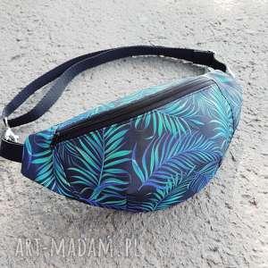 nerka liście palmowe - ,nerka,saszetka,torebka,biodrówka,liście,palma,