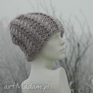 ręcznie zrobione czapki 100% wool grubaśny ścieg piękny kolor