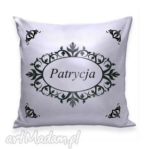 poduszki poduszka z twoim imieniem, poduszka, imię, srebro, napis, ornamenty
