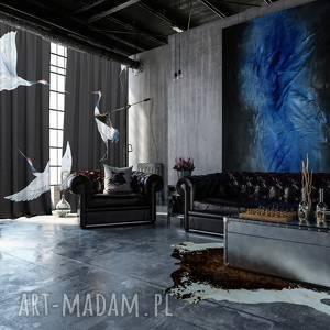 bawełniane zasłony 2 szt birds, zasłony, bawełniane, ptaki, okno, dekoracje