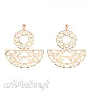 sotho kolczyki z rozetkami z różowego złota - minimalistyczne